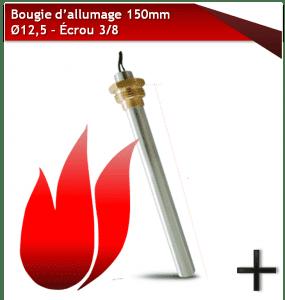 bougie d'allumage 150mm 12,5