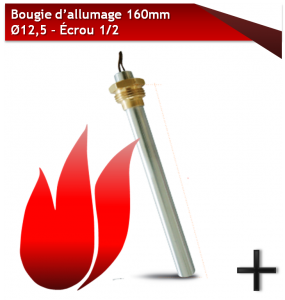 bougie d'allumage 160mm 12,5
