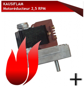 PIECES KAUSIFLAM MOTOREDUCTEUR 2,5 RPM 2017