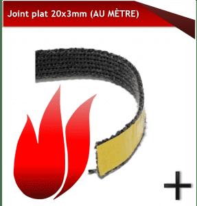 joints poêle à granulés joint PLAT VITRE 20x3
