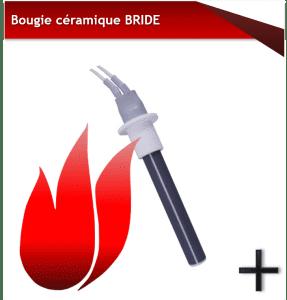 bougies d'allumage bride céramique