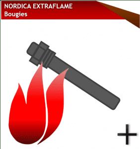 pieces nordica extraflame bougies